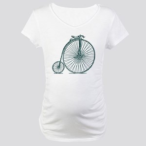 Penny Farthing - Dark Moss Green Maternity T-Shirt
