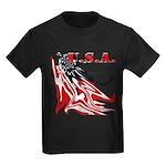 USA Flag Old Glory Kids Dark T-Shirt