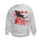 USA Flag Old Glory Kids Sweatshirt