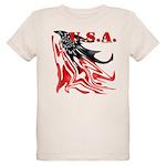 USA Flag Old Glory Organic Kids T-Shirt