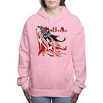 USA Flag Old Glory Women's Hooded Sweatshirt