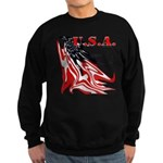 USA Flag Old Glory Sweatshirt (dark)