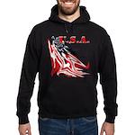 USA Flag Old Glory Hoodie (dark)