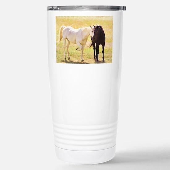 Horses In Love Travel Mug