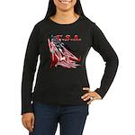 USA Flag Old Glor Women's Long Sleeve Dark T-Shirt