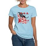 USA Flag Old Glory Women's Light T-Shirt