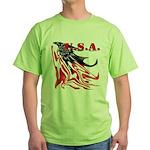 USA Flag Old Glory Green T-Shirt