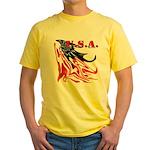 USA Flag Old Glory Yellow T-Shirt