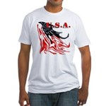 USA Flag Old Glory Fitted T-Shirt