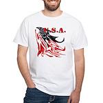 USA Flag Old Glory White T-Shirt