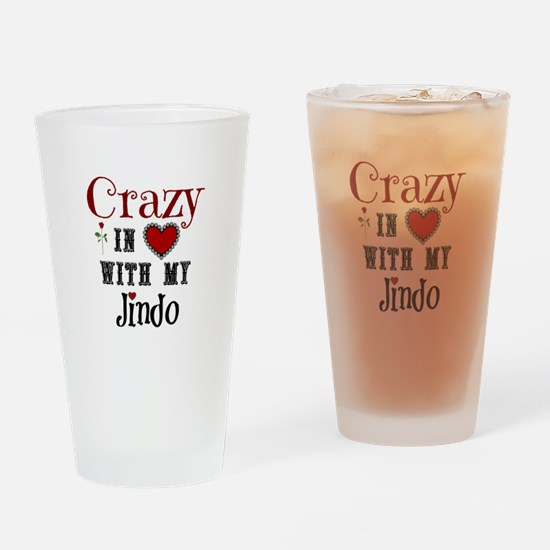 Cute Jindo Drinking Glass