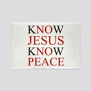 Know Jesus Know Peace Magnets