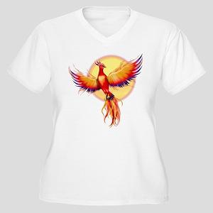 Phoenix Firebird Women's Plus Size V-Neck T-Shirt