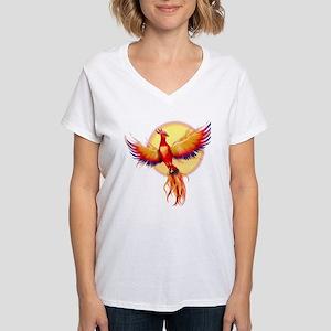 Phoenix Firebird Women's V-Neck T-Shirt