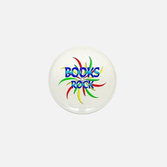 Books Rock Mini Button
