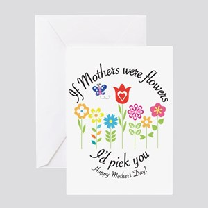 If Mother's were flowers I'd pick you - Happy Moth