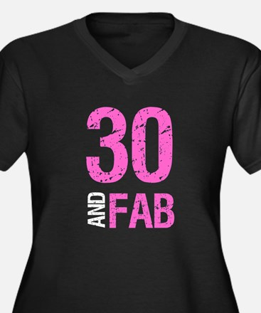 Fabulous 30th Birthday Plus Size T-Shirt