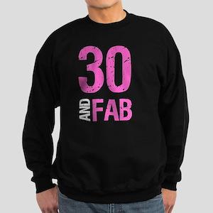Fabulous 30th Birthday Sweatshirt (dark)