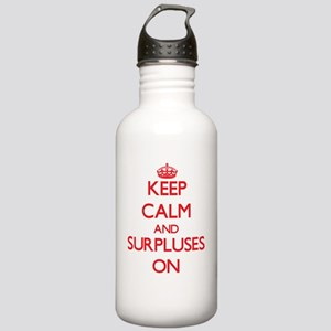 Keep Calm and Surpluse Stainless Water Bottle 1.0L
