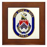 USS JOHN L. HALL Framed Tile