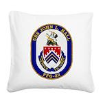 USS JOHN L. HALL Square Canvas Pillow