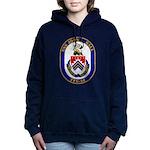USS JOHN L. HALL Women's Hooded Sweatshirt