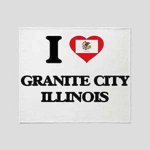 I love Granite City Illinois Throw Blanket