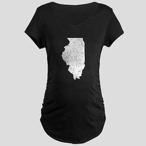 Illinois Silhouette Maternity T-Shirt