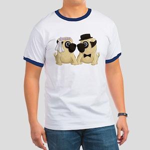 Wedding Pugs Ringer T T-Shirt