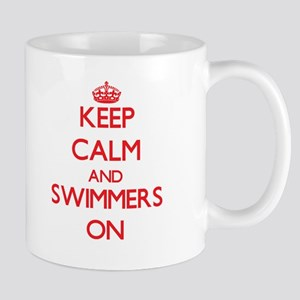 Keep Calm and Swimmers ON Mugs