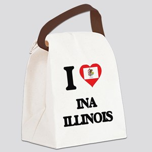 I love Ina Illinois Canvas Lunch Bag
