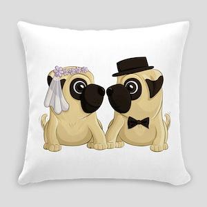 Wedding Pugs Everyday Pillow