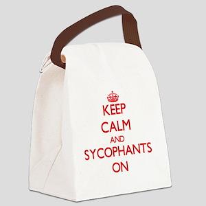 Keep Calm and Sycophants ON Canvas Lunch Bag