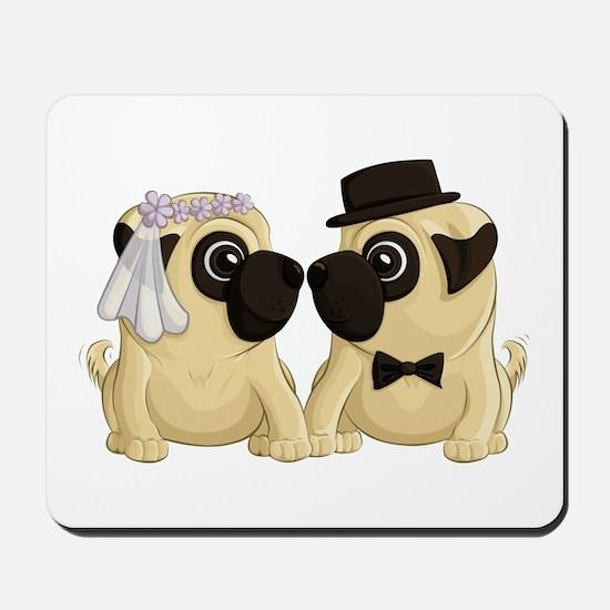 Wedding Pugs Mousepad