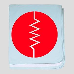 Circled Resistor Symbol - Red baby blanket