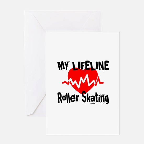 My Life Line Roller Skating Greeting Card