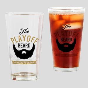 Gold Playoff Beard Drinking Glass