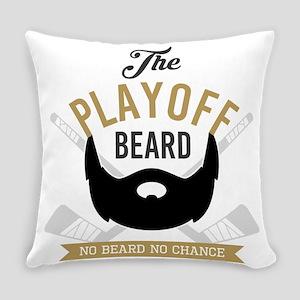 Gold Playoff Beard Everyday Pillow