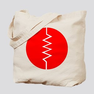Circled Resistor Symbol - Red Tote Bag