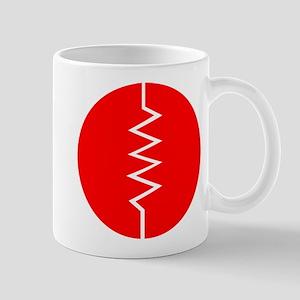 Circled Resistor Symbol - Red Mugs