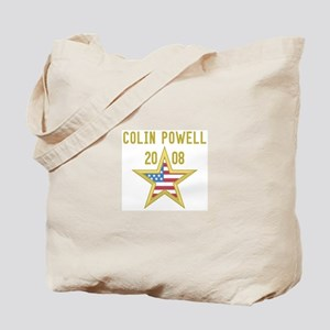 COLIN POWELL 08 (gold star) Tote Bag