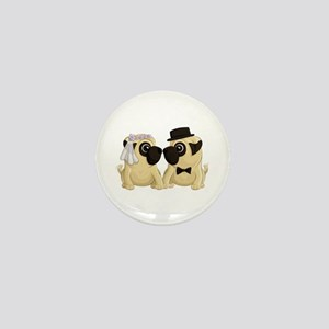 Wedding Pugs Mini Button