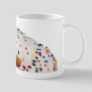 white rainbow sprinkles donut photo Mugs