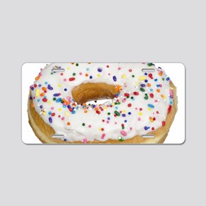 white rainbow sprinkles don Aluminum License Plate