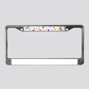 white rainbow sprinkles donut License Plate Frame