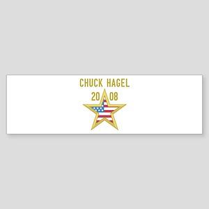 CHUCK HAGEL 08 (gold star) Bumper Sticker