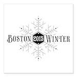 Boston 2015 Winter Square Car Magnet 3