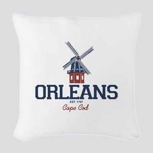 Orleans - Cape Cod. Woven Throw Pillow