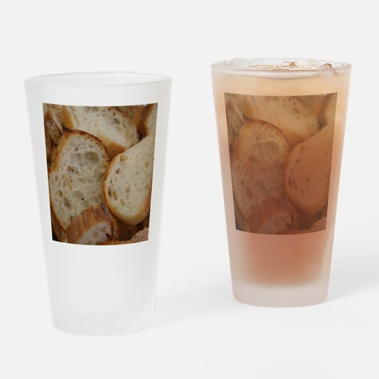 Artisan Bread Slices Drinking Glass