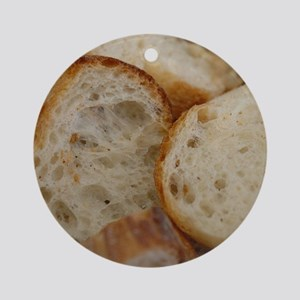 Artisan Bread Slices Ornament (Round)